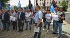 ВМРО и НФСБ протестираха пред ЦИК заради избирателните секции в Турция