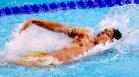 Калоян Левтеров финишира на опашката в сериите на 100 м гръб в Токио