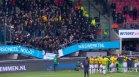 Трибуна с фенове се срути докато ликуват след победа (+ ВИДЕО)