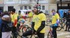 Легендарни български спортисти поведоха велопоход в София